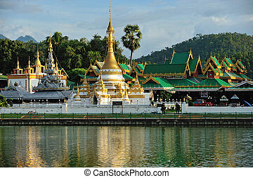Wat Jong Klang in Maehongson,province North of Thailand