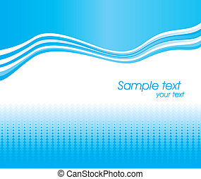 Blue abstract wave vector