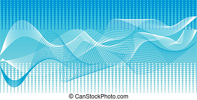 Vector blue waves background - Illustrations blue wave...