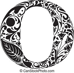 Floral O - Floral initial capital letter O