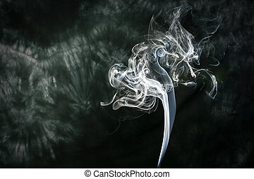 Smoke flower - A plume of smoke in the shape of a flower...