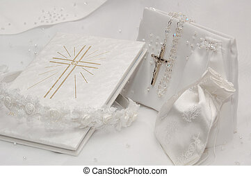 First Holy Communion - Objects relating to a girl making her...