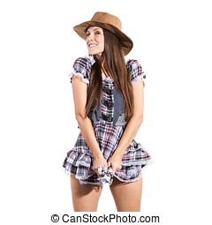 country and western woman - very beautiful sexy country and...