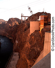 Hoover Dam Gold Building - Photo of buildings on the side of...