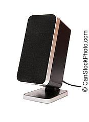 Music Speaker - music speaker on a white background