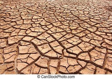 Dry cracked ground full frame