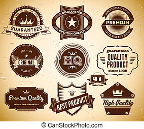 Vintage labels Collection 21 - Set of vintage labels on the...