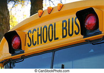 school bus - Close-up of a school bus\\\'s emergency lights