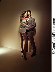 Photo full of sensuality of two lovers - Photo full of...