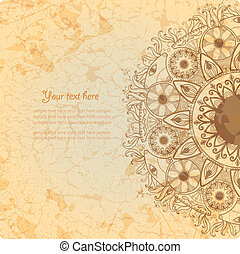 Vintage invitation card on grunge background