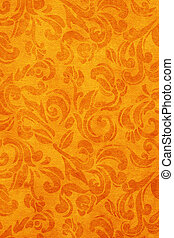 Vintage wallpaper background - Art Nouveau pattered fabric...