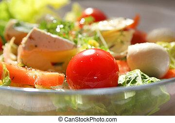 coloridos, salada