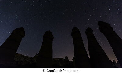star time lapse - stars trials love valley at Cappadocia...