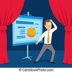 Businessman performing presentation