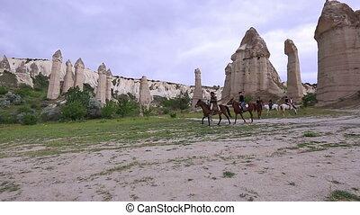 cappadocia - horse trip at famous cappadocia Turkey