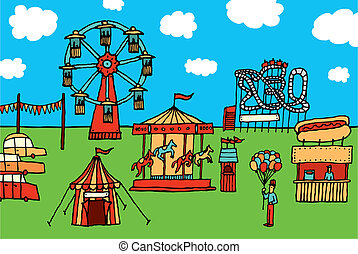Cartoon Carnival / Amusement park