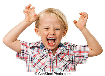 Hyperactive young boy - A angry hyperactive young boy...
