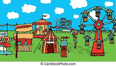 Cartoon carnival