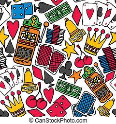 Gambling Seamless pattern / Casino background