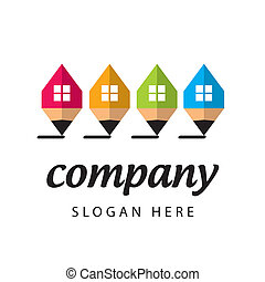 stylized logo construction company