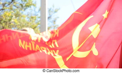Communist Party of Ukraine Flag