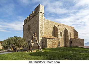la escala sant marti of empuries - Church medieval village,...