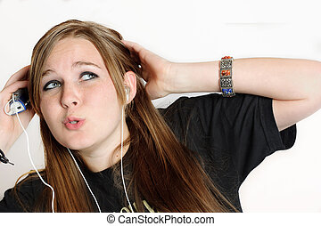 Ohh Baby..... - A teenage girl listening to her mp3 player