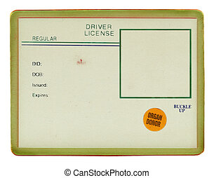Old Vintage Drivers License (visible old paper texture, scratche