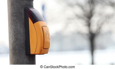 Pedestrian crosswalk button - Pushing the pedestrian...