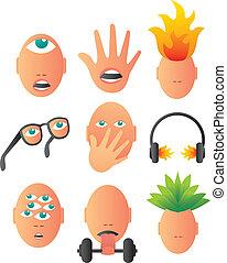 Bizarre conceptual icons
