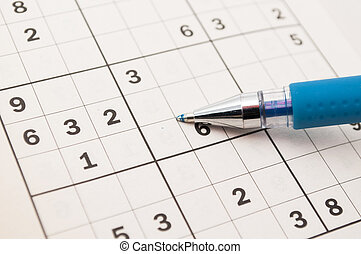 sudoku - doing sudokus with a blue pen