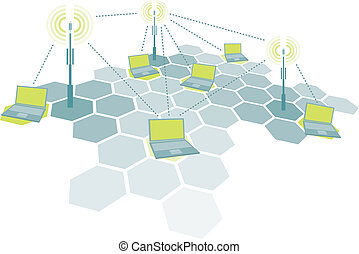 Connecting laptops Wireless network