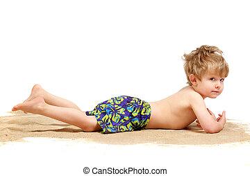 Boy in a swimsuit