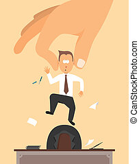 Fired Layoff or Hand removing employee from desk