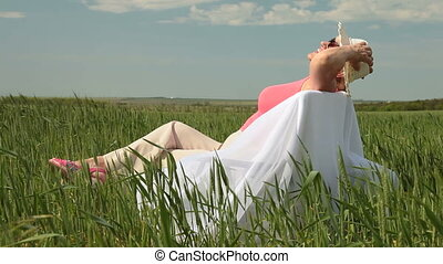 Cheerful senior woman enjoying retirement on the nature,...