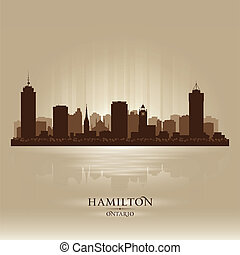 Hamilton Canada skyline city silhouette Vector illustration