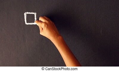 Cost Per Action Chalk Drawing - A person drawing a Cost Per...