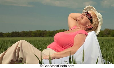 senior woman enjoying retirement - Attractive senior woman...