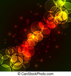 Colorful circles diagonal stream vector background with copy...