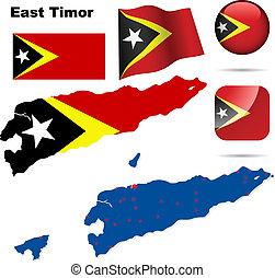 East Timor vector set.