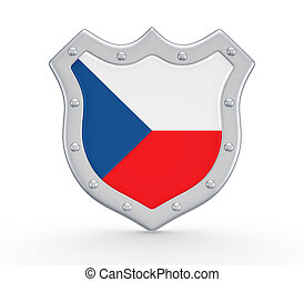 Coat of Arms with flag of Czech Republic.