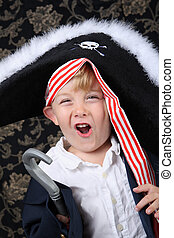 Pirate boy - Young boy wearing a pirate costume