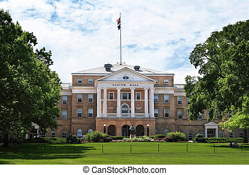 University of Wisconsin, Bascom Hall - UW Bascom Hall on a...