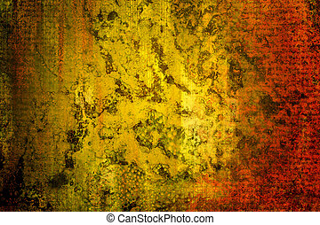 Rust texture - A close up of rusted metal in gold and red