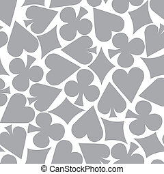 Seamless Poker Pattern Background grey