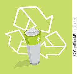 Renewable Energy / Ecologic Green Battery - Recycle