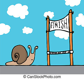 Snail reaching his goal