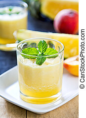 Pineapple with Peach smoothie
