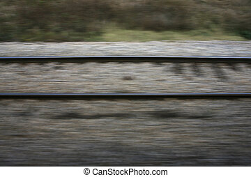 train railway track driving the speed