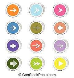arrow color vector illustration
